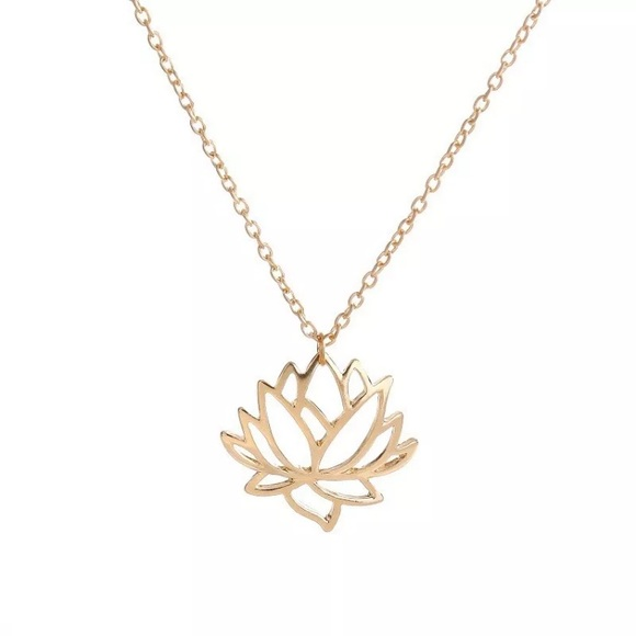 Jewelry Just In Gold Lotus Flower Necklace Poshmark